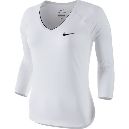 Nike Serena Williams Women's Court Pure 3/4 Long Sleeve Tennis Top Shirt White