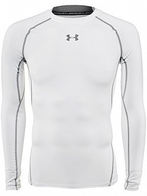 Under Armour Andy Murray ATP Tour Pro Heatgear Men's Long Sleeve Compression Shirt, White