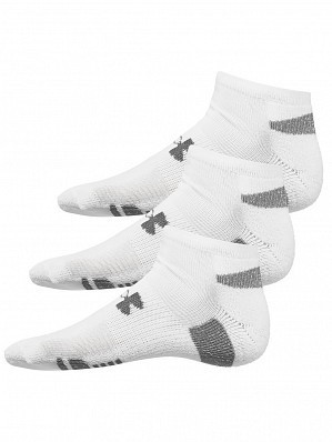Under Armour Andy Murray ATP Tour Pro Heatgear No-Show Socks 3 Pack, White