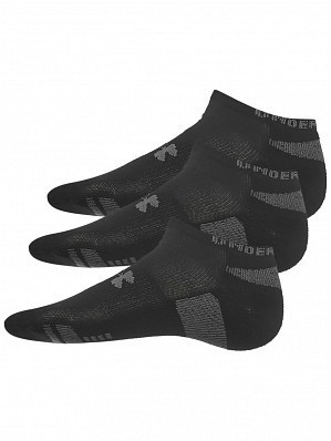 Under Armour Andy Murray ATP Tour Pro Heatgear No-Show Socks 3 Pack, Black