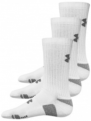 Under Armour Andy Murray ATP Tour Pro Heatgear Crew Socks 3 Pack, White