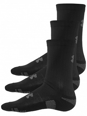 Under Armour Andy Murray ATP Tour Pro Heatgear Crew Socks 3 Pack, Black