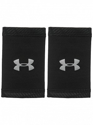 Under Armour Andy Murray ATP Tour Pro CoolSwitch Double-Wide Tennis Wristbands, Black