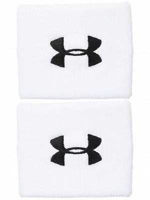 Under Armour Andy Murray ATP Tour Pro Performance Tennis Wristbands, White