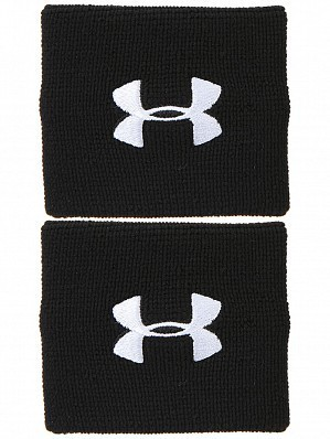 Under Armour Andy Murray ATP Tour Pro Performance Tennis Wristbands, Black