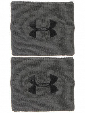 Under Armour Andy Murray ATP Tour Pro Performance Tennis Wristbands, Grey