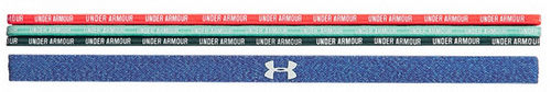Under Armour WTA Tour Pro Player Women's Wordmark Headbands 4 Pack, Black / Blue