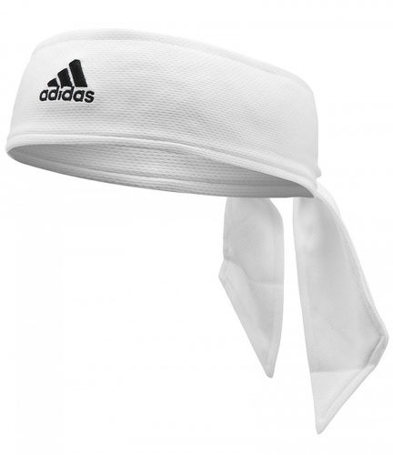Adidas Pro Player Tennis Headband Tie Bandana White