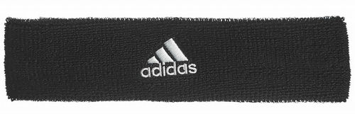 Adidas Pro Player Logo Tennis Headband Black / White