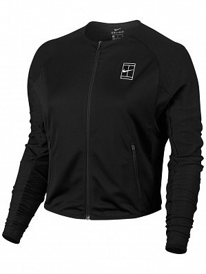 Nike Pro Player WTA Tour Women's Court Baseline Tennis Jacket, Black