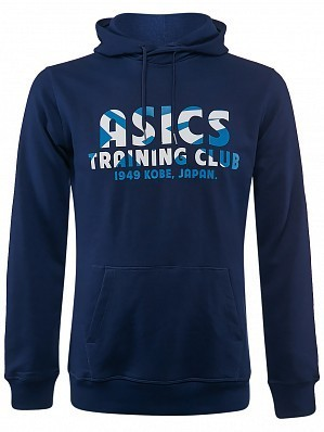 Asics ATP Master Tour Pro Player Men's Warm Up Training Club Tennis Hoodie Sweater, Blue