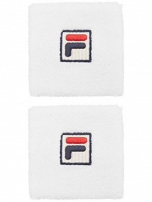 Fila ATP & WTA Master Tour Pro Player Osten Tennis Wristbands, White