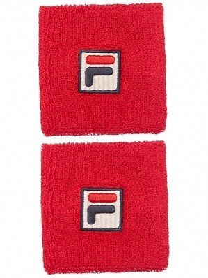 Fila ATP & WTA Master Tour Pro Player Osten Tennis Wristbands, Red