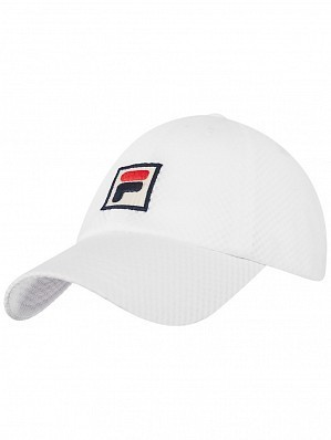 Fila ATP & WTA Master Tour Pro Player Sampau Logo Tennis Cap Hat White