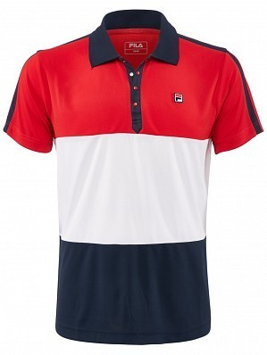 Fila ATP Master Tour Pro Player Men's Palle Tennis Polo Shirt, Red