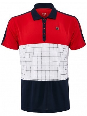 Fila ATP Master Tour Pro Player Men's Patrice Tennis Polo Shirt, Red
