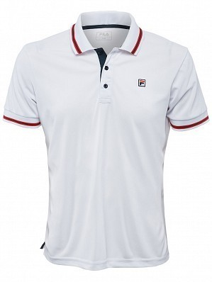 Fila ATP Master Tour Pro Player Men's  Core Piro Tennis Polo Shirt, White