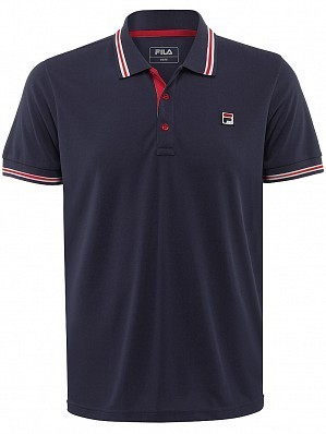 Fila ATP Master Tour Pro Player Men's Core Piro Tennis Polo Shirt, Navy