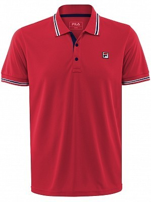 Fila ATP Master Tour Pro Player Men's Core Piro Tennis Polo Shirt, Red