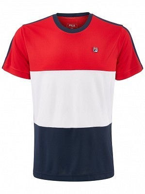 Fila ATP Master Tour Pro Player Men's Sebastien Tennis Crew Tee Shirt, Red