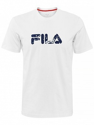 Fila ATP Master Tour Pro Player Men's Basic Logo Tennis Tee Shirt, White