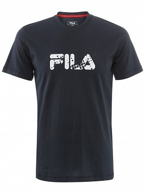 Fila ATP Master Tour Pro Player Men's Basic Logo Tennis Tee Shirt, Navy