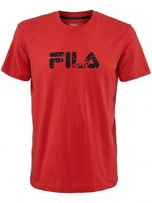 Fila ATP Master Tour Pro Player Men's Basic Logo Tennis Tee Shirt, Red