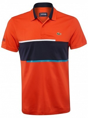 Lacoste ATP Pro Player Men's Net Tennis Polo Shirt, Red