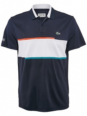 Lacoste ATP Pro Player Men's Net Tennis Polo Shirt, Navy