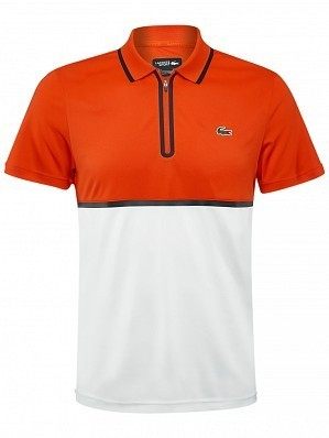 Lacoste ATP Pro Player Men's Tennis Polo Shirt, Red / White