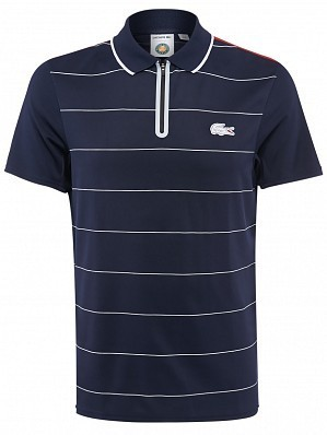 Lacoste ATP Pro Player Men's Roland Garros French Open Performance Tennis Polo Shirt, Navy