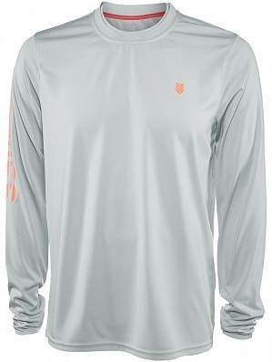 K-Swiss ATP Pro Player Men's Long Sleeve Tennis Sweat Shirt, Grey