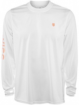 K-Swiss ATP Pro Player Men's Long Sleeve Tennis Sweat Shirt, White