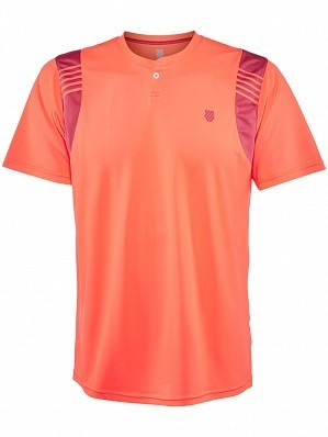 K-Swiss ATP Pro Player Men's Tour Game Tennis Crew Shirt, Orange