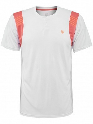 K-Swiss ATP Pro Player Men's Tour Game Tennis Crew Shirt, White
