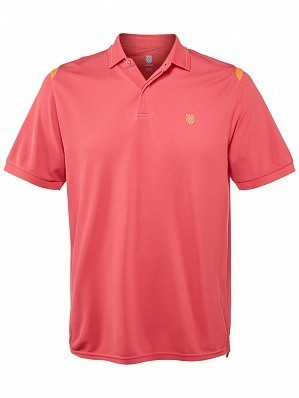 K-Swiss ATP Pro Player Men's Tour Game Tennis Polo Shirt, Red