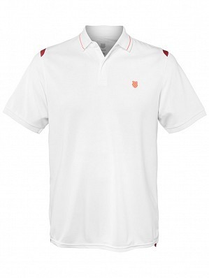 K-Swiss ATP Pro Player Men's Tour Game Tennis Polo Shirt, White