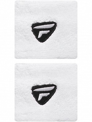 Tecnifibre WTA Pro Player Tennis Wristbands, White