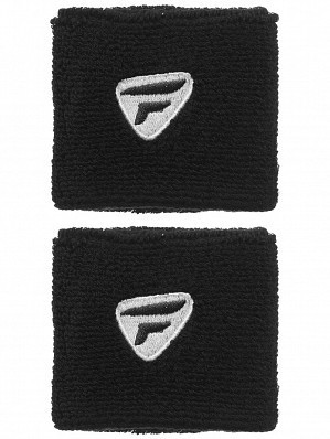 Tecnifibre WTA Pro Player Tennis Wristbands, Black