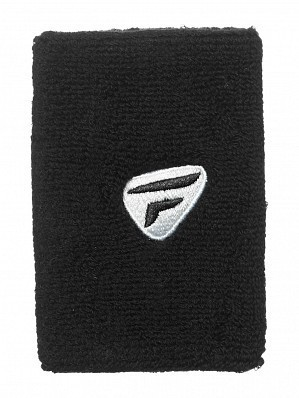 Tecnifibre ATP Tour Pro Player Large Double Wide Logo Tennis Wristbands, Black