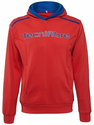 Tecnifibre ATP Pro Player Logo Men's Fleece TennisHoodie Sweater, Red