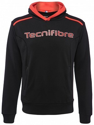 Tecnifibre ATP Pro Player Logo Men's Fleece TennisHoodie Sweater, Black