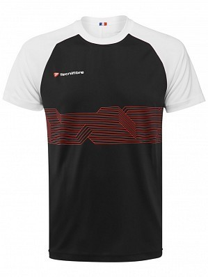 Tecnifibre ATP Pro Player Logo Men's F2 Airmesh Tennis Crew Shirt, Black