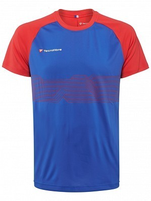 Tecnifibre ATP Pro Player Logo Men's F2 Airmesh Tennis Crew Shirt, Blue