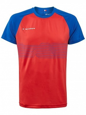 Tecnifibre ATP Pro Player Logo Men's F2 Airmesh Tennis Crew Shirt, Red