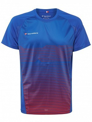 Tecnifibre ATP Pro Player Logo Men's F4 Laservent Tennis Crew Shirt, Blue