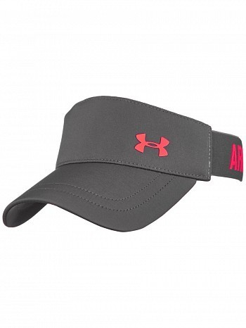 Under Armour WTA Tour Pro Player Shadow Armour Vent Tennis Visor, Grey
