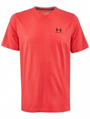 Under Armour Andy Murray ATP Tour Pro Logo Men's Lockup Tennis Crew Shirt, Red