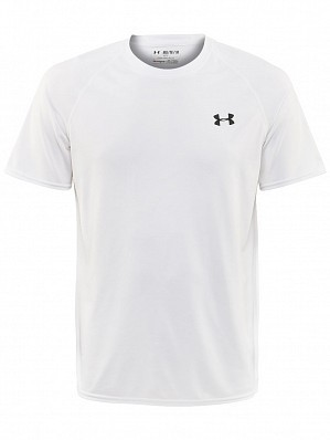 Under Armour Andy Murray ATP Tour Pro Logo Men's Basic Tech Tennis Crew Shirt, White