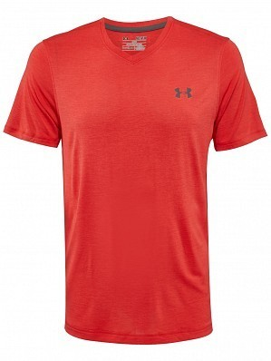 Under Armour Andy Murray ATP Tour Pro Logo Men's Basic Tech Tennis Crew Shirt, Red